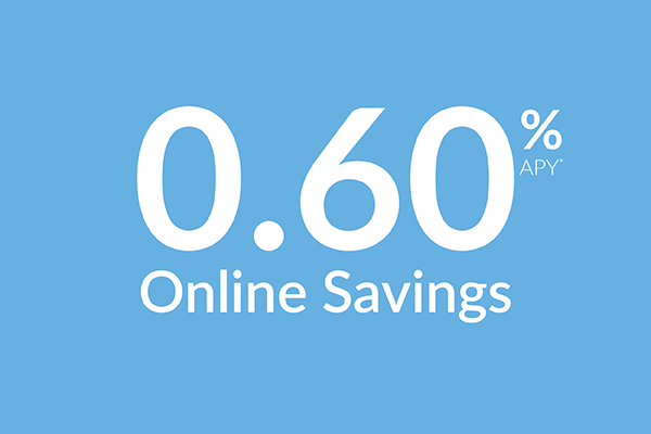 Online savings account 0.60% APY*