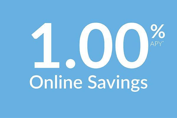 Online savings account 1.00% APY*